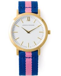 Larsson & Jennings - Blue 'kulör' Watch - Lyst