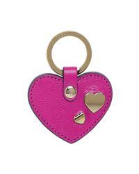 Mulberry | Purple Heart Rivet Keyring | Lyst