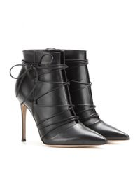Gianvito Rossi - Black Leather Ankle Boots - Lyst