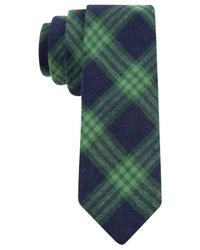 Tommy Hilfiger | Green Country Plaid Skinny Tie for Men | Lyst