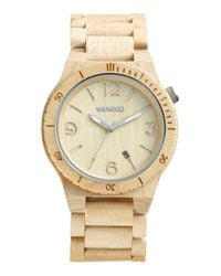 WeWood - Natural 'alpha' Wood Bracelet Watch - Lyst