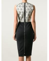 Victoria Beckham - Black Triangle Panel Dress - Lyst