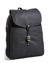Filson - Black Twill & Tin Cloth Backpack for Men - Lyst