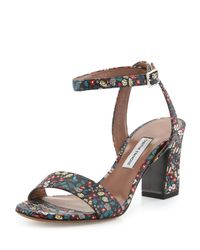 Tabitha Simmons - Blue Leticia Floral Leather Sandals - Lyst