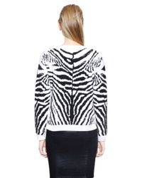DIESEL | Multicolor Zebra Cotton Blend Jacquard Sweater | Lyst