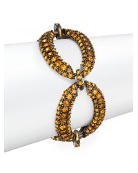 Saks Fifth Avenue | Pavã© Oval Link Bracelet/orange | Lyst