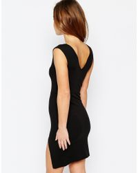 ASOS - Pink Petite Bodycon Mini Dress With Thigh Split - Lyst