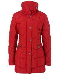 Basler | Red Padded Short Coat | Lyst