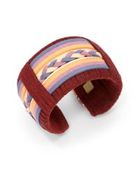 DANNIJO - Red Braided Cuff - Lyst