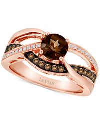 Le Vian | Metallic Smoky Quartz (5/8 Ct. T.w.) And Diamond (1/4 Ct. T.w.) Ring In 14k Rose Gold | Lyst