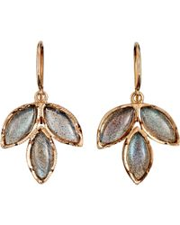 Irene Neuwirth - Gray Gemstone Triple Marquise Earrings - Lyst