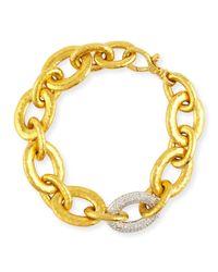 Gurhan | Metallic 24k Galahad Link Bracelet With Diamonds | Lyst