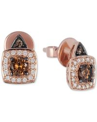 Le Vian | Brown Chocolatier® Chocolate And White Diamond Earrings (5/8 Ct. T.w.) In 14k Rose Gold | Lyst