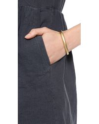 Madewell | Metallic Thick Facet Cuff Bracelet Vintage Gold | Lyst