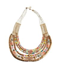 ALDO | Multicolor Malerba Disc Bead Tube Necklace | Lyst