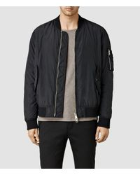 AllSaints | Black Tolbert Bomber Jacket for Men | Lyst