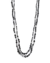 Chan Luu | Metallic Hematite, Crystal & Sterling Silver Two-strand Beaded Necklace | Lyst