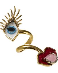 Erickson Beamon | Multicolor So Real Eyes And Lips Ring | Lyst