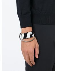 Raf Simons | Black Leather And Metal Bracelet for Men | Lyst