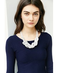 Urban Outfitters - White Museum Walls Knotted Necklace - Lyst