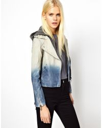 Doma Leather | Blue Arena Two Tone Leather Jacket | Lyst
