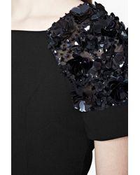 French Connection - Black Cassin Flower Embellished Dress - Lyst