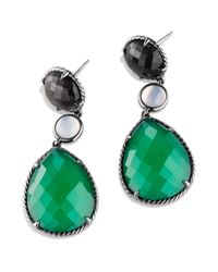 David Yurman | Viridian Tripledrop Earrings with Green Onyx and Gray Sapphires | Lyst