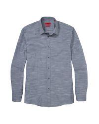 HUGO - Blue 'elisha' | Slim Fit, Cotton Button Down Shirt for Men - Lyst
