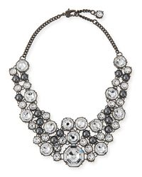 St. John - Metallic Crystal Octagon Link Necklace - Lyst