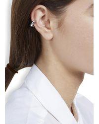 Eddie Borgo | Metallic Silver Plated Pyramid Ear Cuff | Lyst