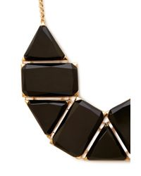 Forever 21 - Black Faux Gemstone Statement Necklace - Lyst