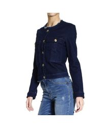 Pinko - Blue Jacket Woman - Lyst