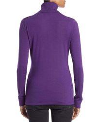 Lord & Taylor | Blue Petite Merino Wool Turtleneck Sweater | Lyst