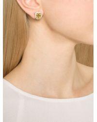 Fantasia Jewelry | Metallic Pave Asscher Earrings | Lyst