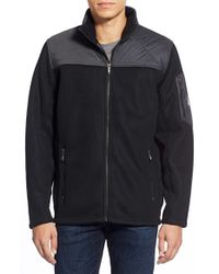 Spyder - Black 'rambler' Zip Front Sweater for Men - Lyst