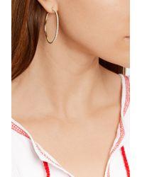Jennifer Meyer - Blue 18-karat Gold Diamond Hoop Earrings - Lyst