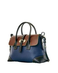 Dooney & Bourke   Blue Verona Elisa Leather Satchel Bag   Lyst
