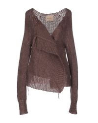 Erika Cavallini Semi Couture - Brown Cardigan - Lyst