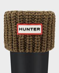 Hunter | Green Kids' Half-Cardigan Stitch Boot Socks | Lyst