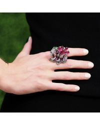 Wendy Yue - Pink Stackable Flower Ring - Lyst