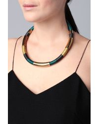 Pieces - Green Necklace / Longcollar - Lyst