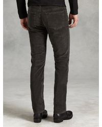 John Varvatos - Brown Slim Fit Jean W Horn Shank Button for Men - Lyst