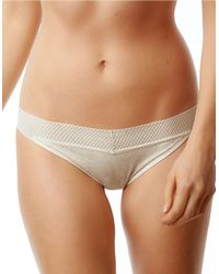 Splendid | Natural Fruit Fusion Solid Mesh Lace Bikini Panty | Lyst