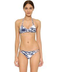 Mikoh Swimwear | Blue Uluwatu Racer Back Bikini Top | Lyst