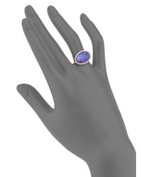 Meira T | Pink Tanzanite, Mother-of-pearl, Diamond & 14k Rose Gold Doublet Ring | Lyst