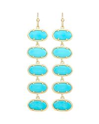 Kendra Scott | Blue Ives Turquoise Linear Earrings | Lyst