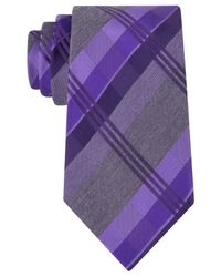 Geoffrey Beene | Purple Mad For Plaid Tie for Men | Lyst