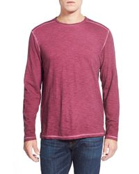 Tommy Bahama | Purple 'salerno' Long Sleeve Slubbed T-shirt for Men | Lyst