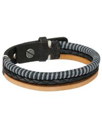 Fossil | Black Multi-strand Bracelet for Men | Lyst