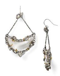 Alexis Bittar - Metallic Suspended Lucite Crescent Earrings - Lyst